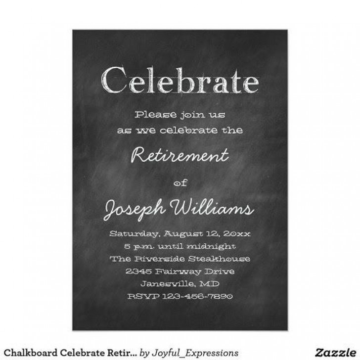 008 Amazing Retirement Invitation Template Free Concept  Party Printable For Word728