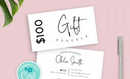 008 Amazing Salon Gift Certificate Template Sample  Templates