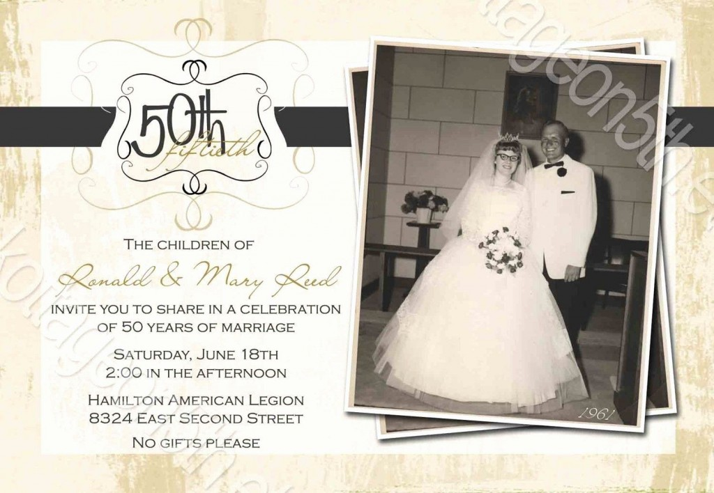 008 Archaicawful 50th Wedding Anniversary Invitation Template High Definition  Templates Golden Uk Free DownloadLarge
