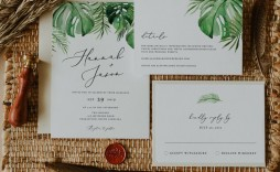 008 Archaicawful Beach Wedding Invitation Template Concept  Templates Free Download For Word