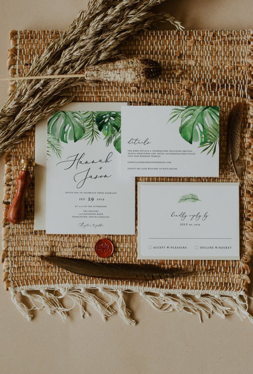 008 Archaicawful Beach Wedding Invitation Template Concept  Templates Free Download Themed For Word