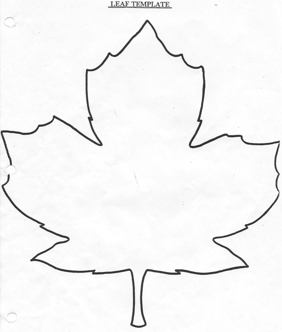008 Archaicawful Blank Leaf Template With Line Photo  Printable960