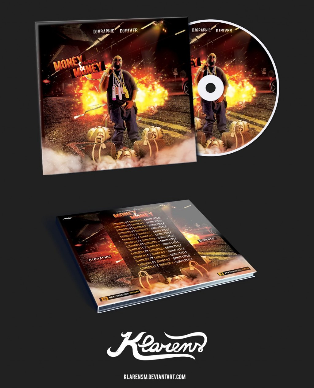 008 Archaicawful Cd Cover Template Psd High Definition  Sleeve Case Free Download LayoutLarge