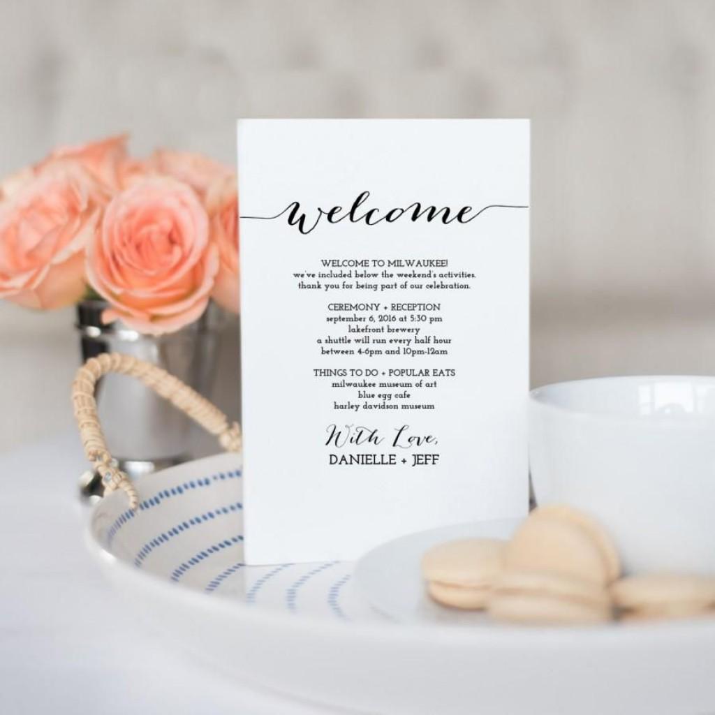 008 Archaicawful Destination Wedding Itinerary Template Idea  Welcome Letter And Sample FreeLarge