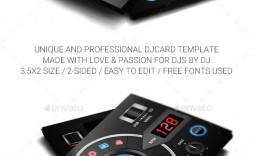 008 Archaicawful Dj Busines Card Template Example  Psd Free Download
