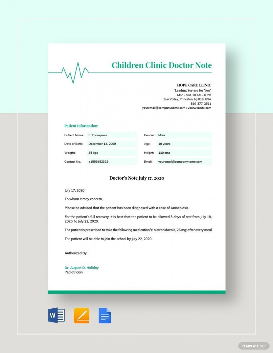 008 Archaicawful Doctor Note Template Word High Def  Microsoft For Work