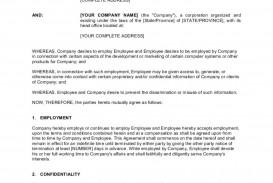 008 Archaicawful Employee Non Compete Agreement Template Example  Free Confidentiality Non-compete Disclosure