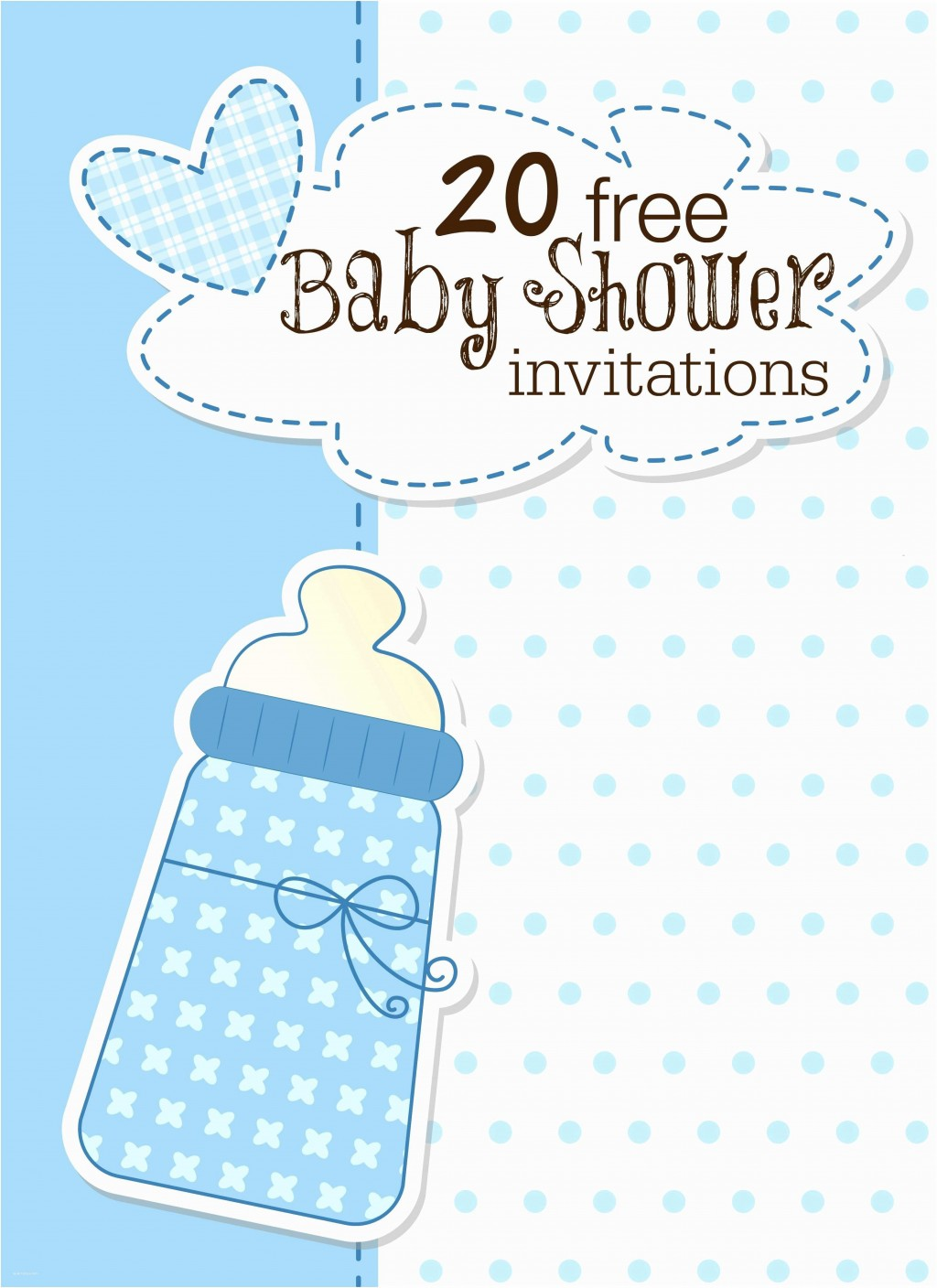 008 Archaicawful Free Baby Shower Invitation Template Idea  Printable Editable Microsoft Word To PrintLarge