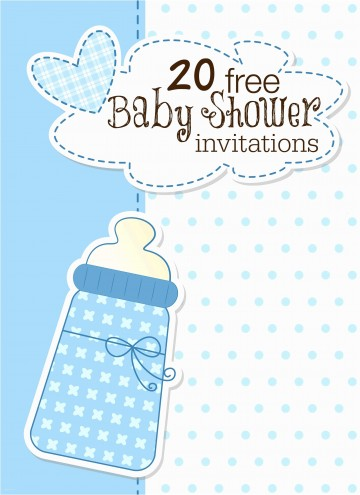 008 Archaicawful Free Baby Shower Invitation Template Idea  Printable For A Girl Microsoft Word360