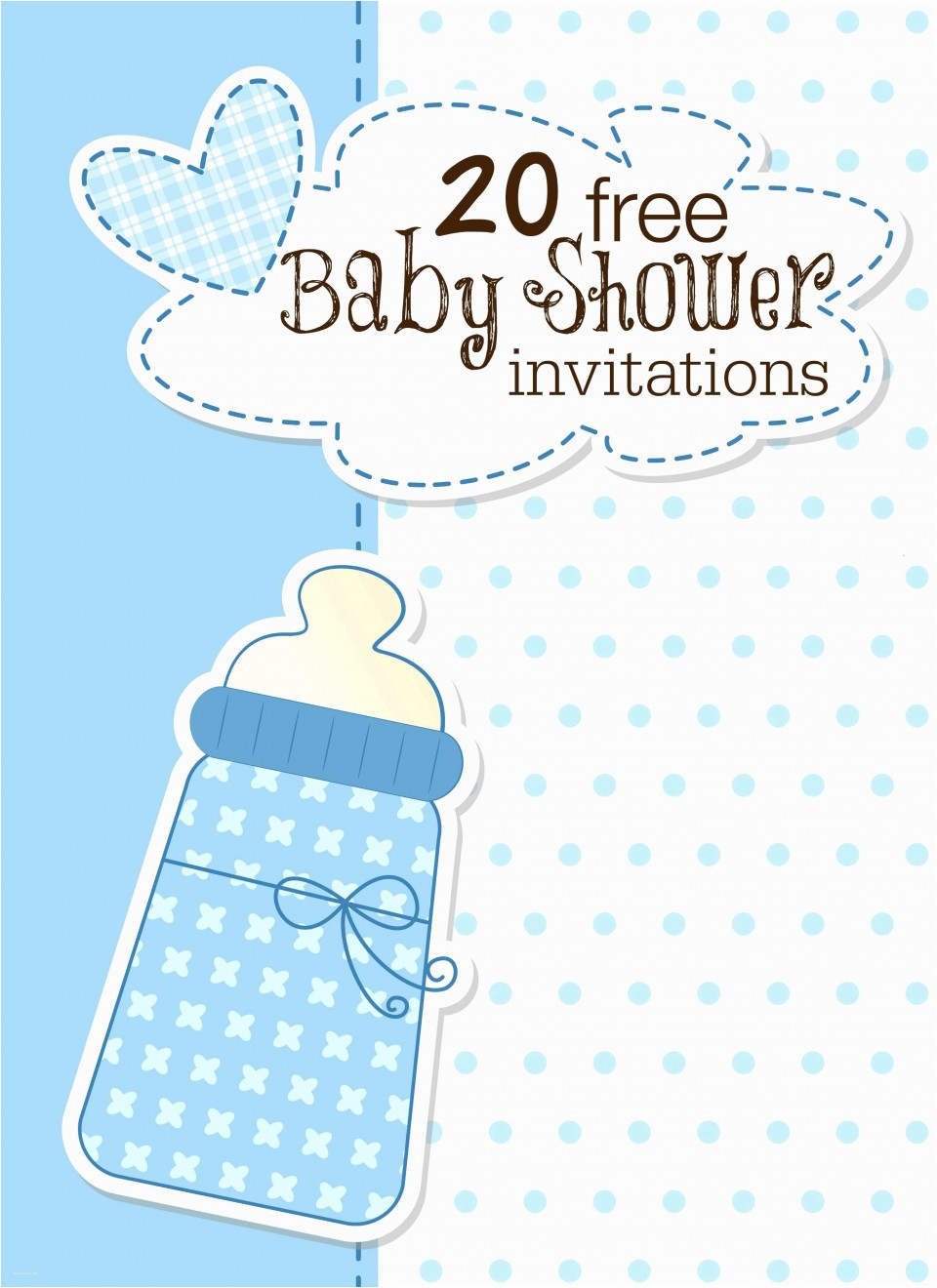 008 Archaicawful Free Baby Shower Invitation Template Idea  Printable For A Girl Microsoft Word960