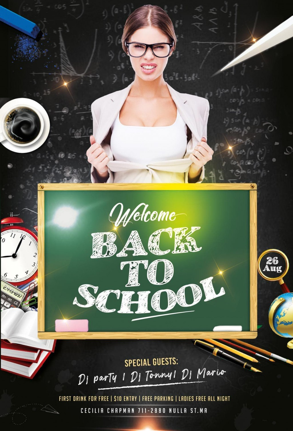 008 Archaicawful Free Back To School Flyer Template Psd Example Large