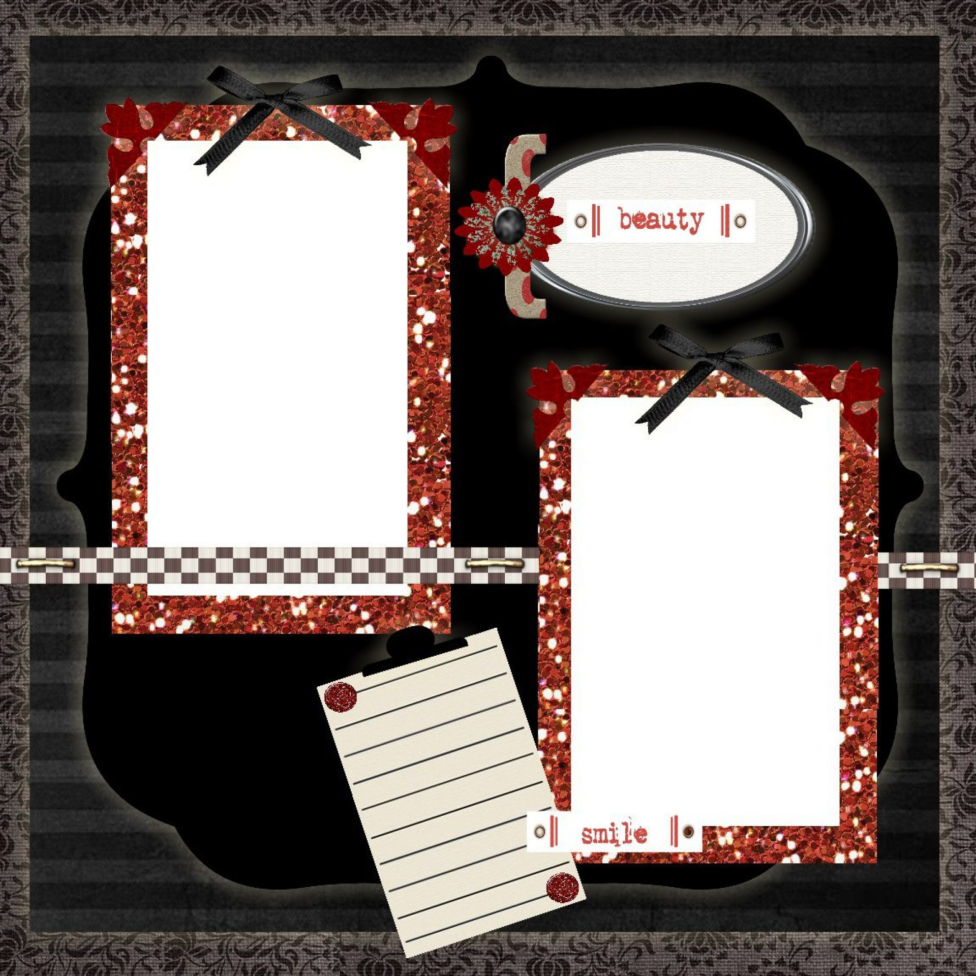 008 Archaicawful Free Printable Scrapbook Template Picture  Templates Paper Frame Layout1920