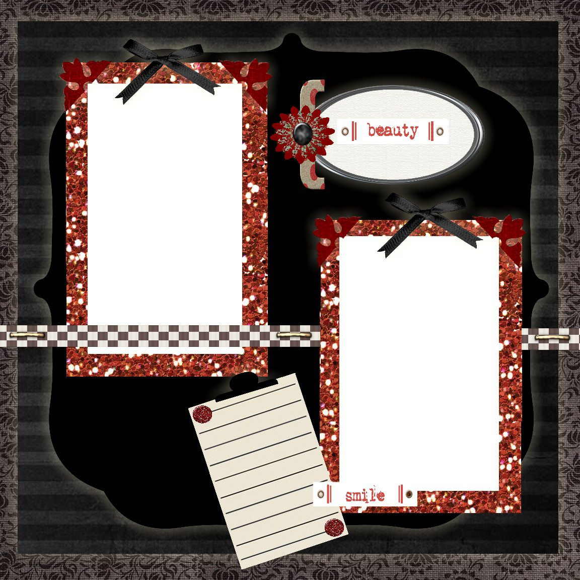 008 Archaicawful Free Printable Scrapbook Template Picture  Templates Paper Frame LayoutFull