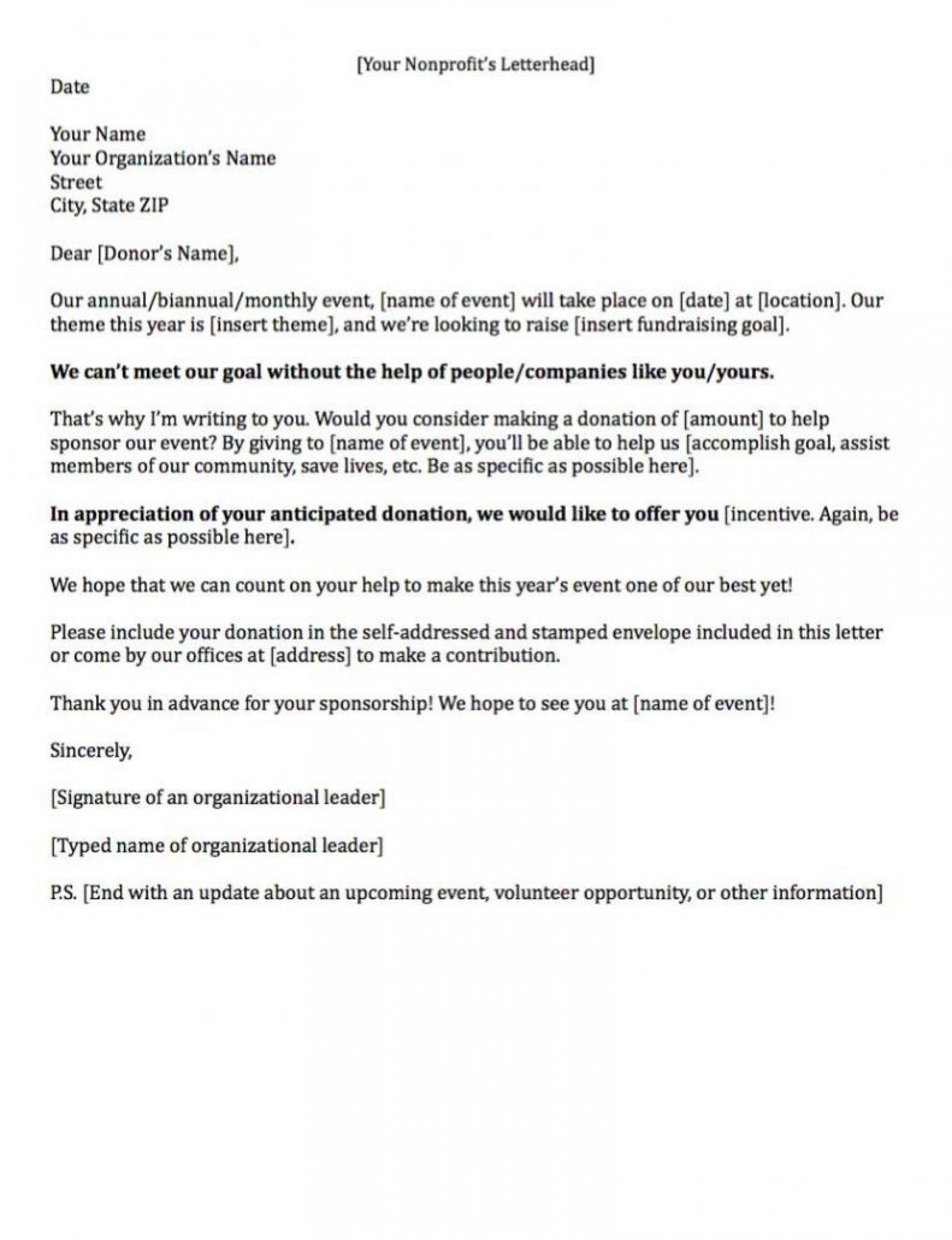 008 Archaicawful Fund Raising Letter Template Idea  Templates Example Of Fundraising Appeal For Mission Trip Uk1920