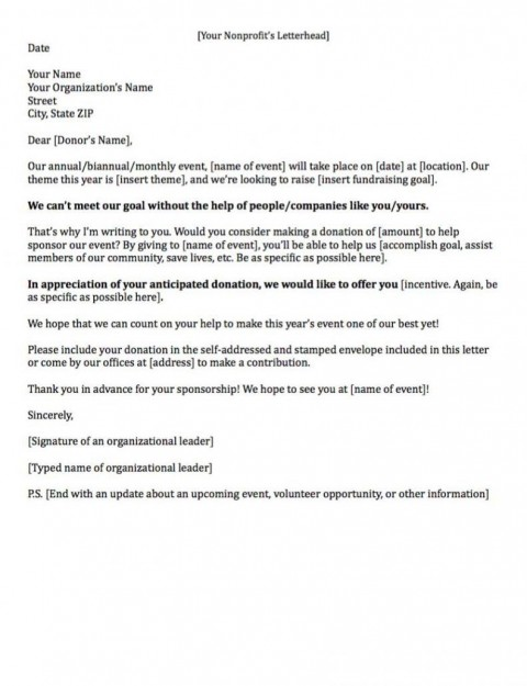008 Archaicawful Fund Raising Letter Template Idea  Fundraising For Mission Trip School Sample Of A Nonprofit Organization480