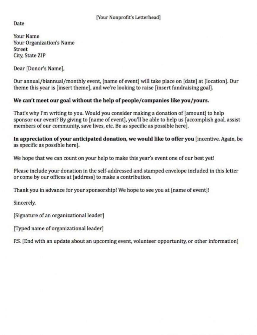 008 Archaicawful Fund Raising Letter Template Idea  Fundraising For Mission Trip School Sample Of A Nonprofit Organization868
