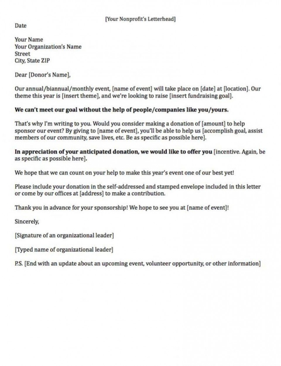 008 Archaicawful Fund Raising Letter Template Idea  Fundraising For Mission Trip School Sample Of A Nonprofit Organization960