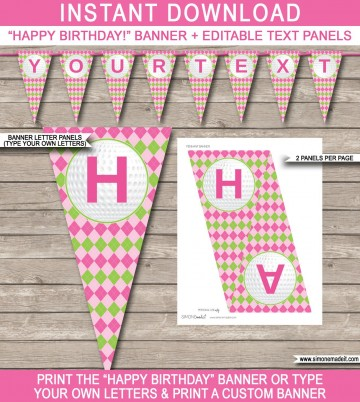 008 Archaicawful Happy Birthday Banner Template Sample  Publisher Editable Pdf360