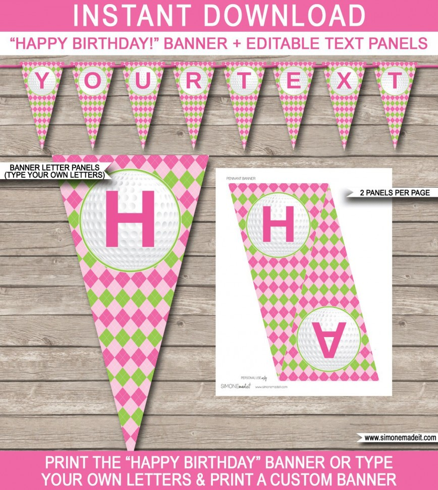 008 Archaicawful Happy Birthday Banner Template Sample  Publisher Editable Pdf868