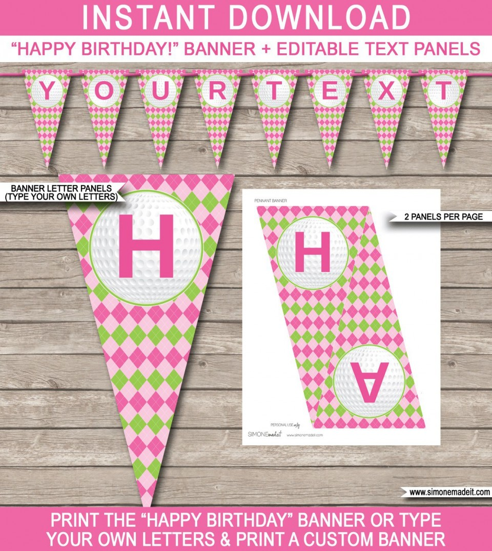 008 Archaicawful Happy Birthday Banner Template Sample  Publisher Editable Pdf960