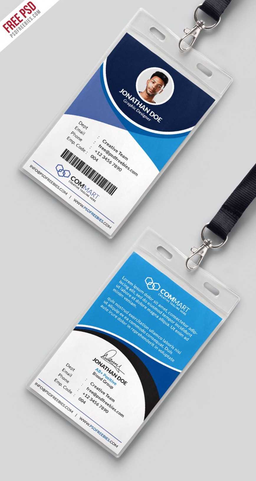 008 Archaicawful Id Badge Template Photoshop High Definition  Employee868