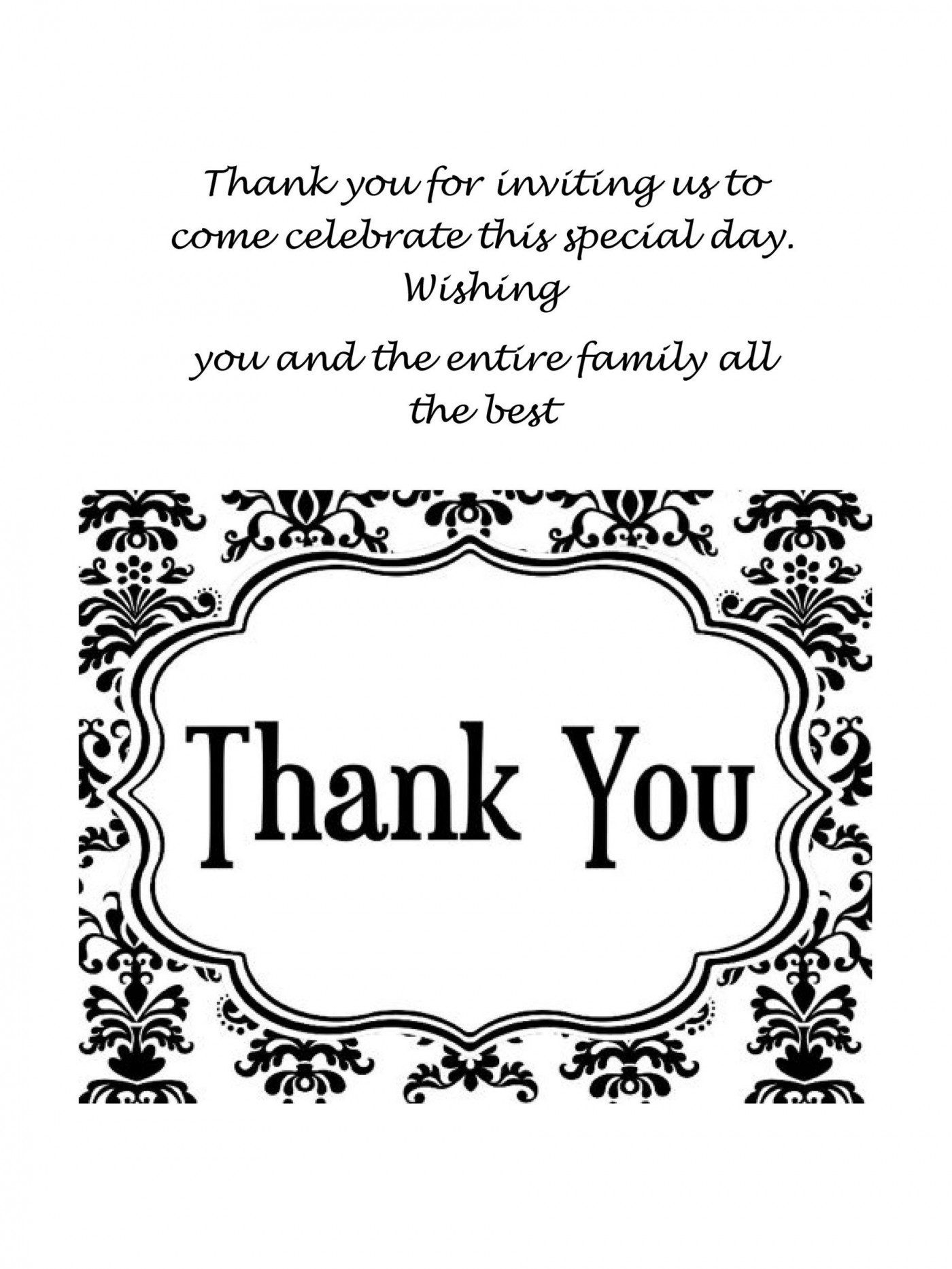 008 Archaicawful Thank You Card Template Design  Wedding Busines Word Free1400