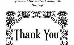 008 Archaicawful Thank You Card Template Design  Christma Word Wedding Reception Teacher Busines