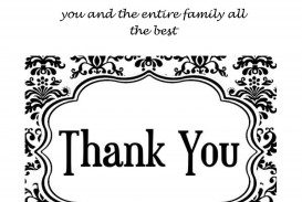 008 Archaicawful Thank You Card Template Design  Wedding Busines Word Free