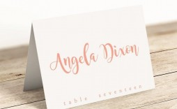 008 Archaicawful Wedding Name Card Template Design  Table Place Free Seating