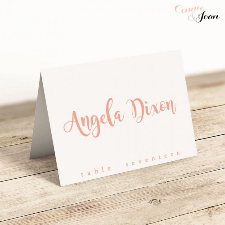 008 Archaicawful Wedding Name Card Template Design  Seating Chart Place Free728