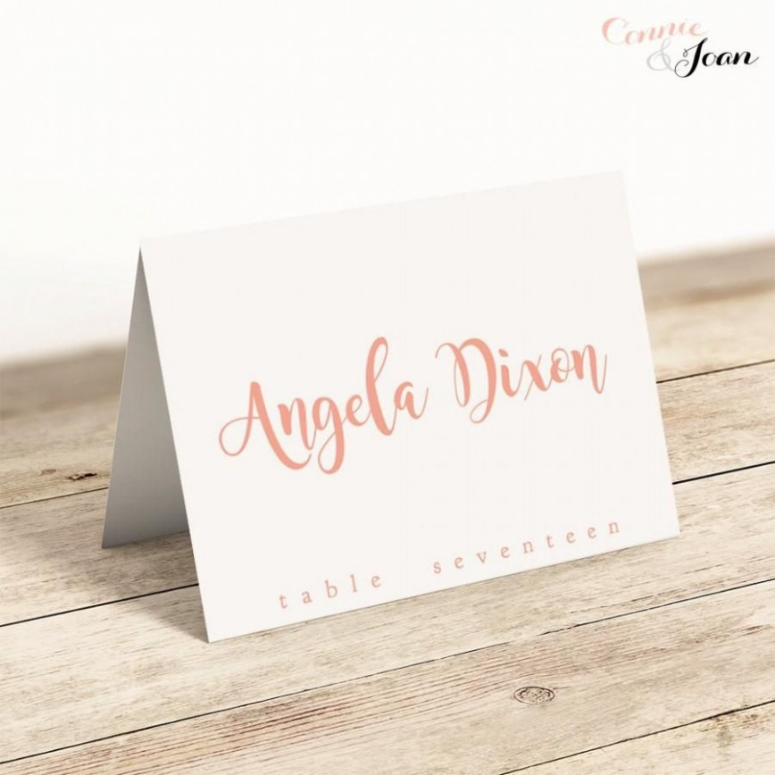008 Archaicawful Wedding Name Card Template Design  Seating Chart Place Free868