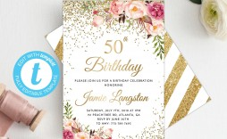 008 Astounding 50th Birthday Invitation Template Highest Clarity  For Him Microsoft Word Free