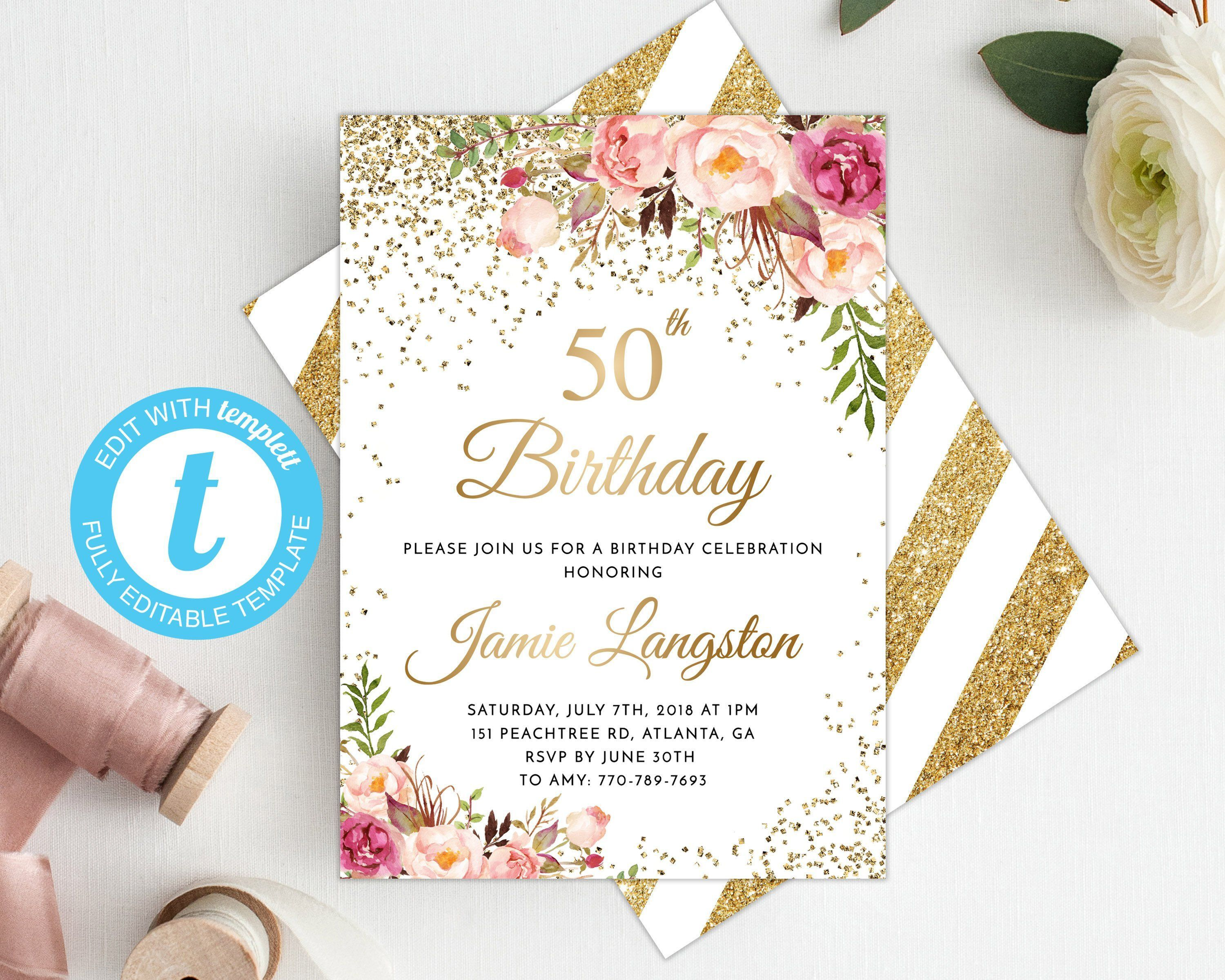 008 Astounding 50th Birthday Invitation Template Highest Clarity  For Him Microsoft Word FreeFull