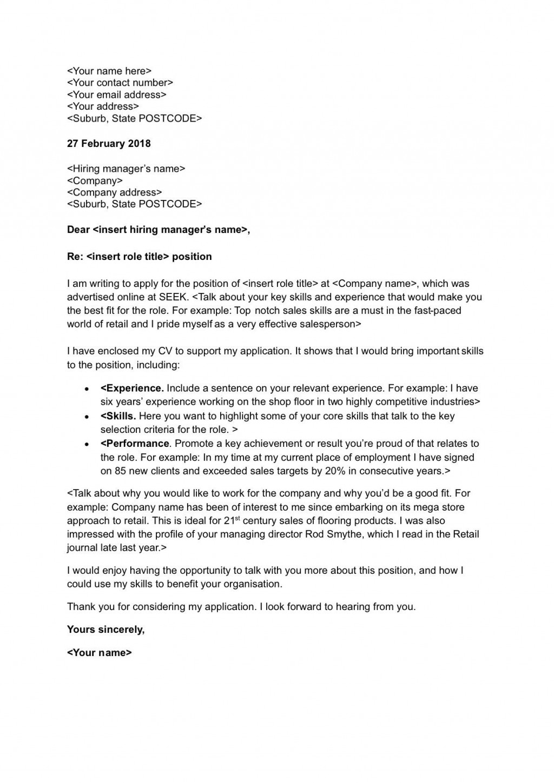 008 Astounding Basic Covering Letter Template Design  Simple Application Job Sample CoverLarge