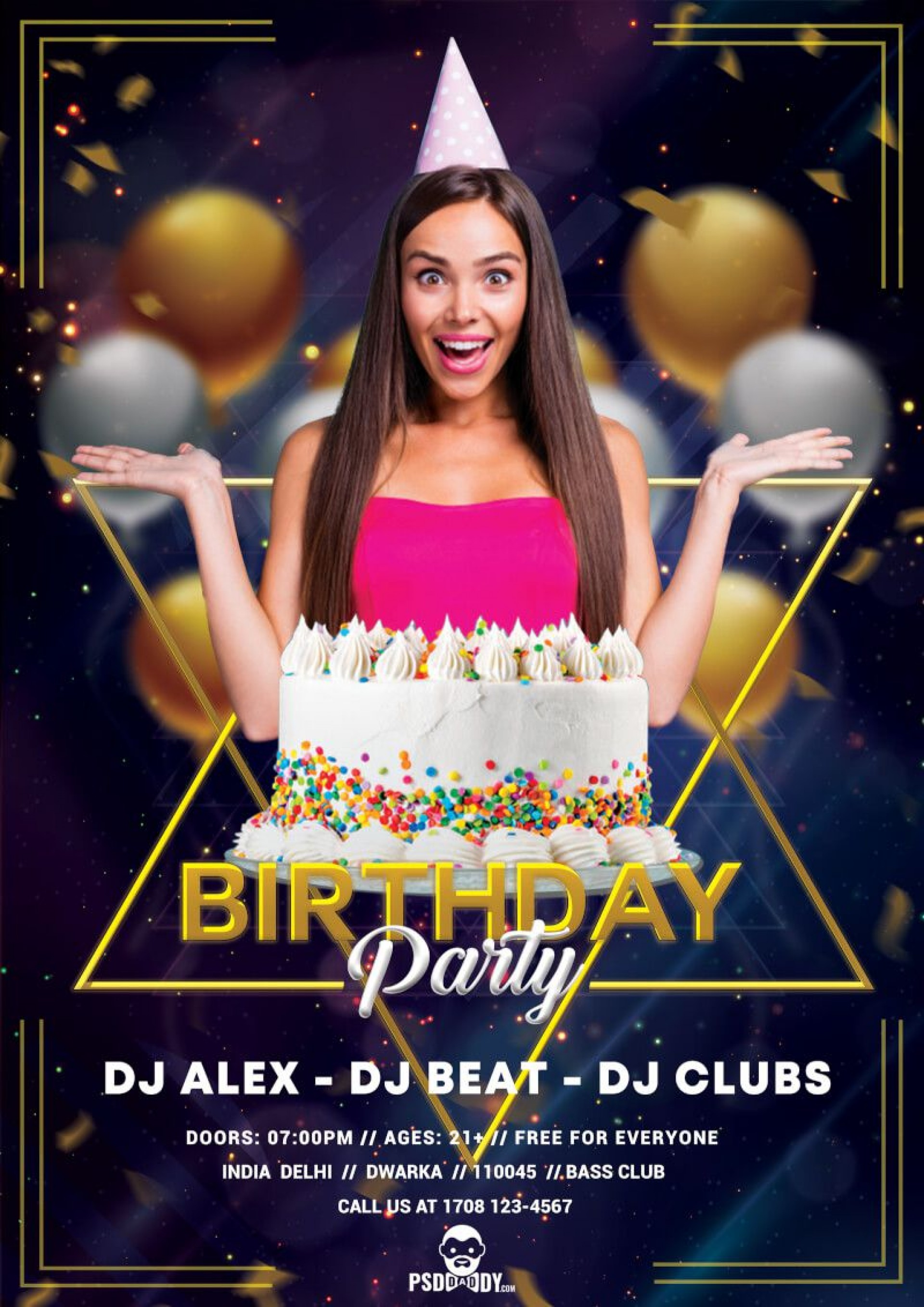 008 Astounding Birthday Flyer Template Psd Free Download High Resolution 1920