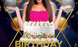 008 Astounding Birthday Flyer Template Psd Free Download High Resolution