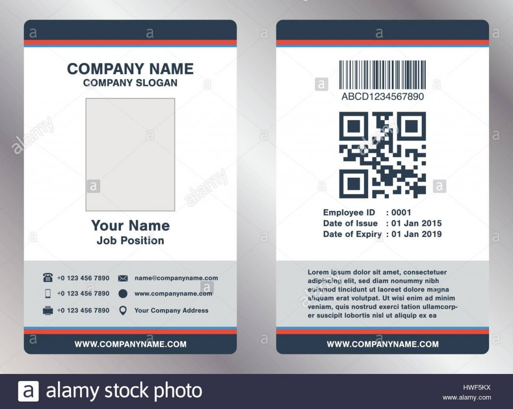 008 Astounding Employee Id Badge Template Picture  Avery Card Free Download WordLarge