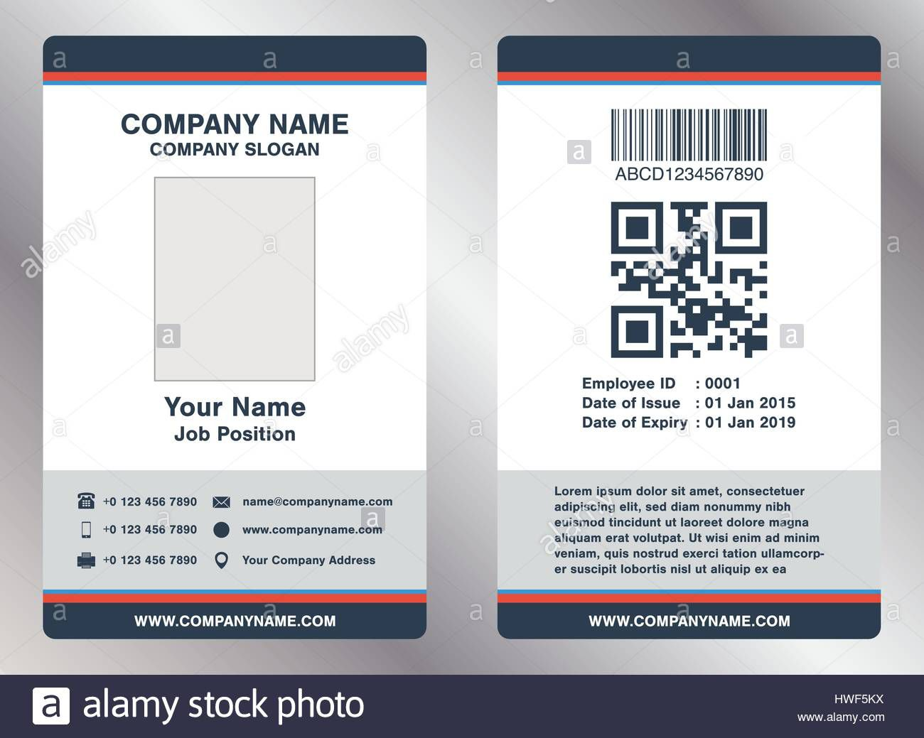 008 Astounding Employee Id Badge Template Picture  Avery Card Free Download WordFull