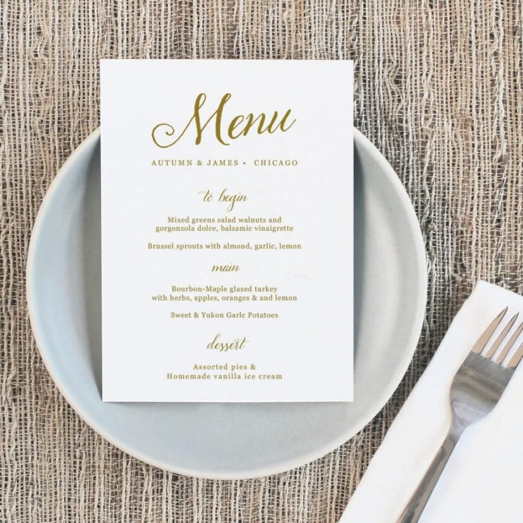 008 Astounding Free Online Wedding Menu Template Sample  TemplatesLarge