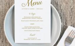 008 Astounding Free Online Wedding Menu Template Sample  Templates