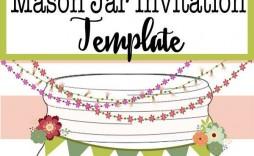 008 Astounding Mason Jar Invitation Template Example  Free Wedding Shower Rustic