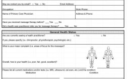 008 Astounding Medical History Form Template For Personal Training Example