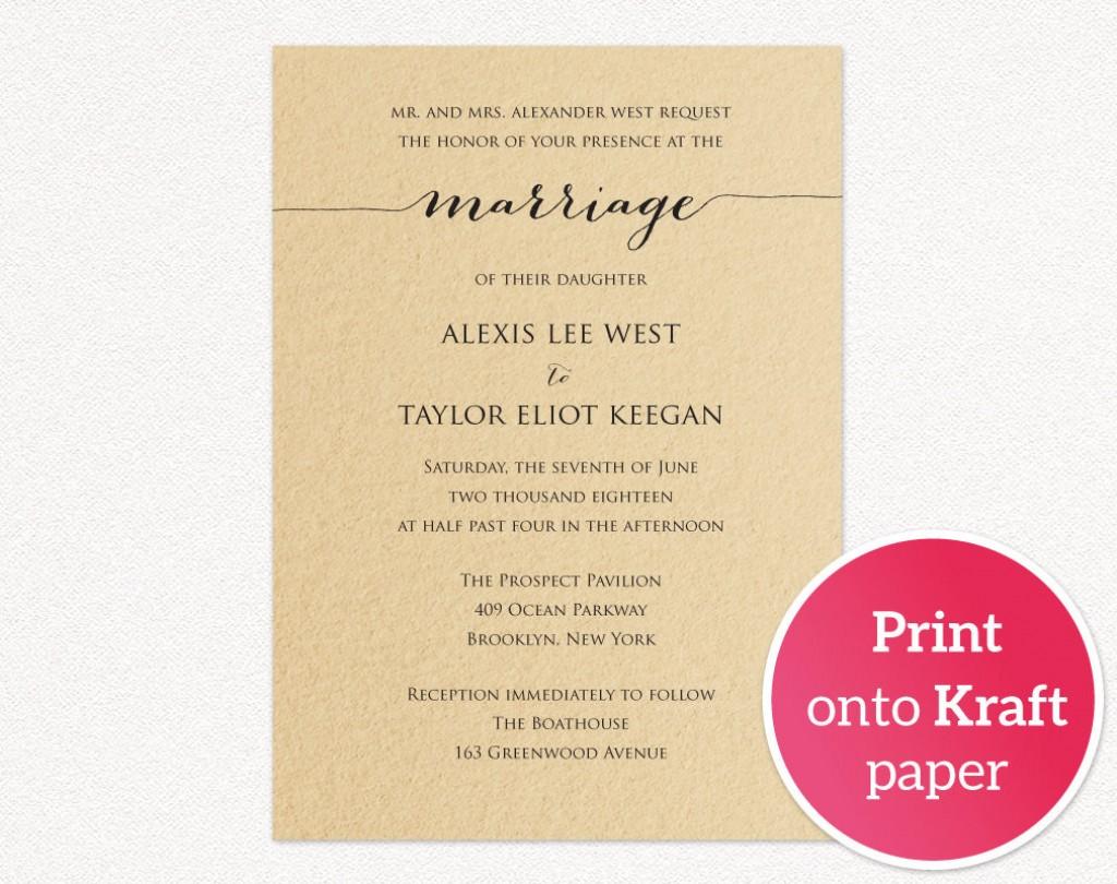 008 Astounding Printable Wedding Invitation Template Example  Free For Microsoft Word VintageLarge