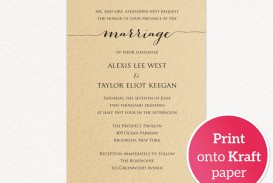 008 Astounding Printable Wedding Invitation Template Example  Free For Microsoft Word Vintage