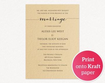 008 Astounding Printable Wedding Invitation Template Example  Free For Microsoft Word Vintage360