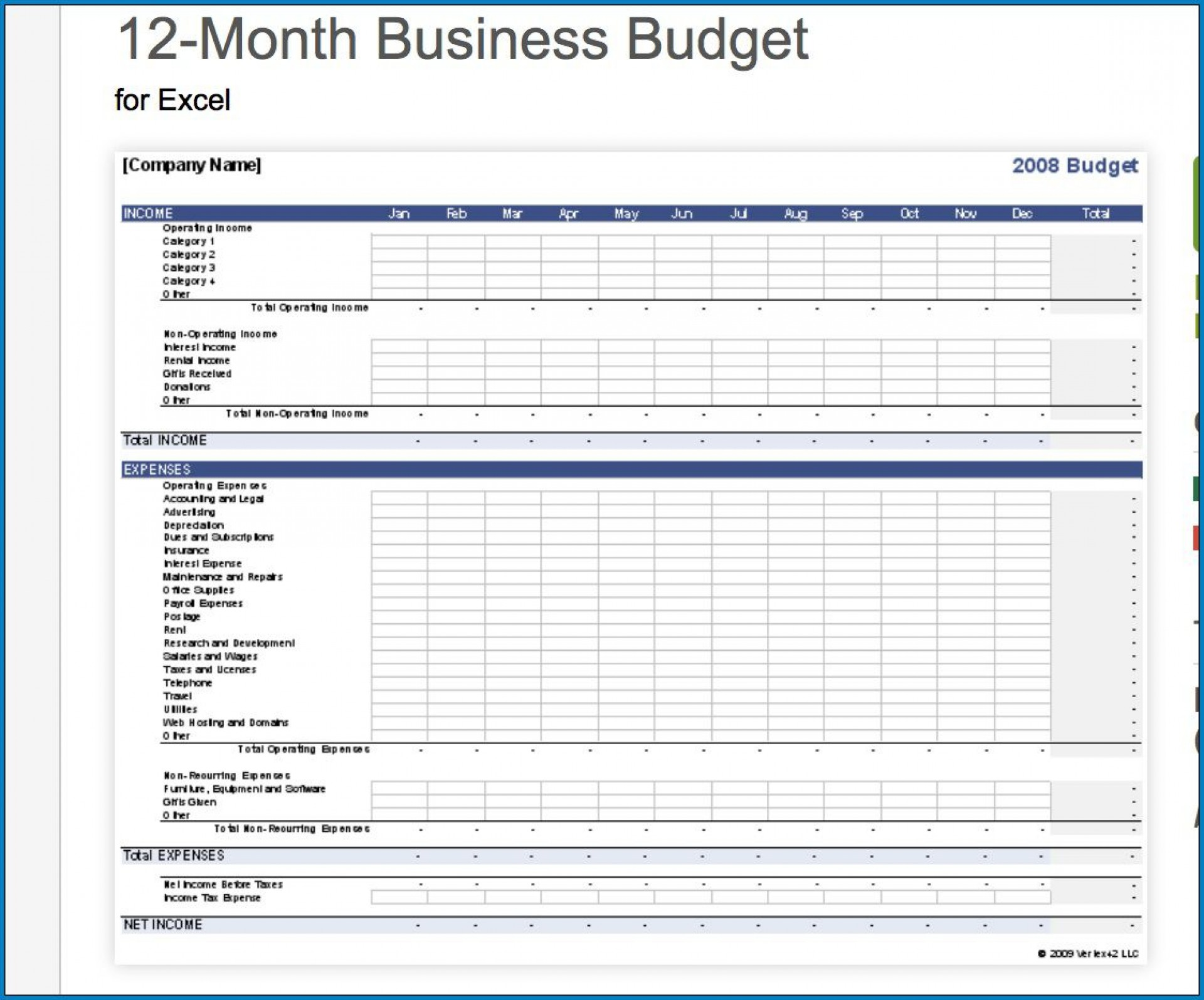 008 Astounding Small Busines Budget Template Excel Inspiration  Monthly Free1920