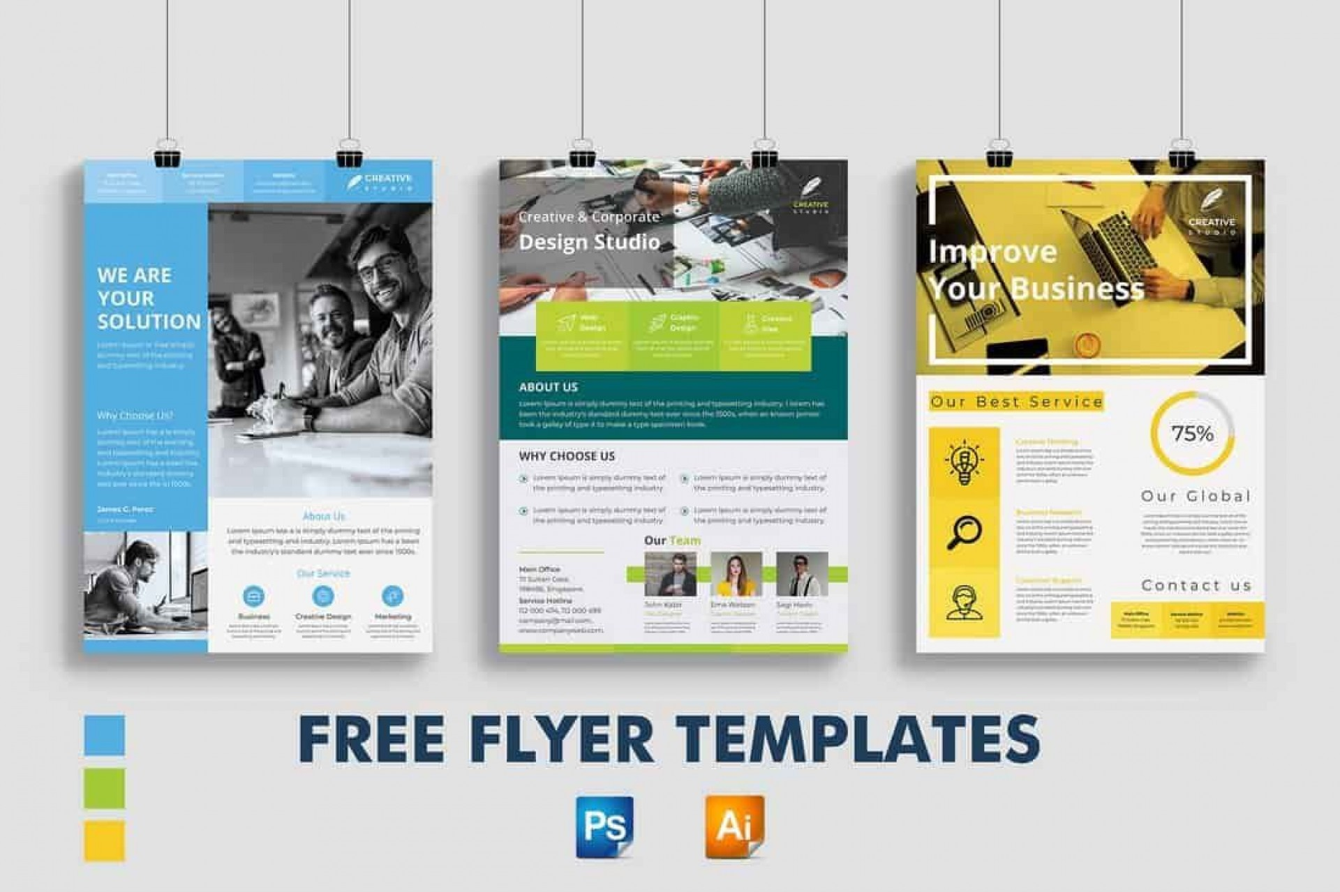 008 Astounding Template For Flyer Free Sample  Club Psd Download Busines1920