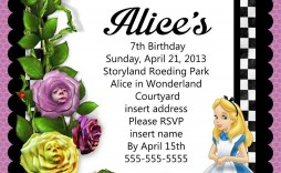 008 Awesome Alice In Wonderland Birthday Party Invitation Printable Free Highest Clarity