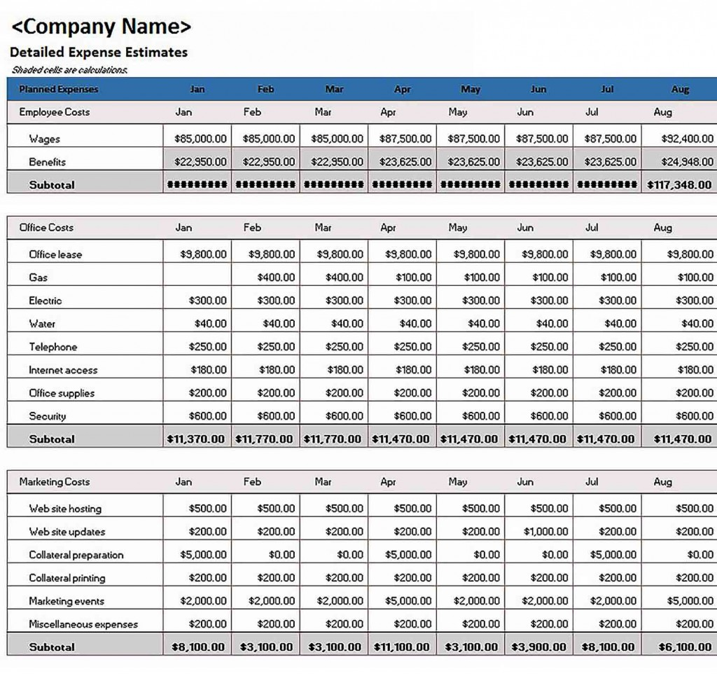 008 Awesome Budgeting Template In Excel Photo  Training Budget Free Download ProjectLarge