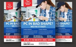 008 Awesome Computer Repair Flyer Template Picture  Word Busines Free